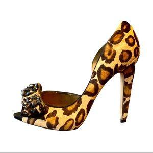 Sam Edelman Lorna Leopard & Spiked/Jeweled Heels